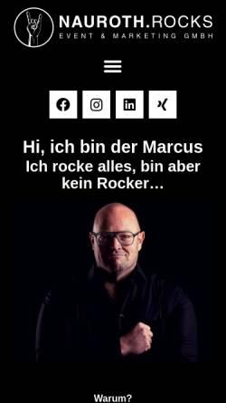 Vorschau der mobilen Webseite www.naurothmusic.com, Nauroth, Marcus