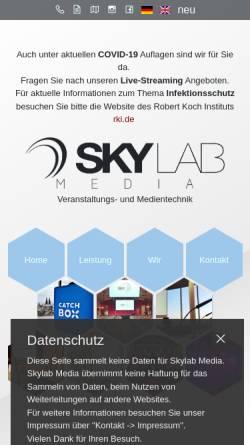 Vorschau der mobilen Webseite skylab.de, SKYLAB media