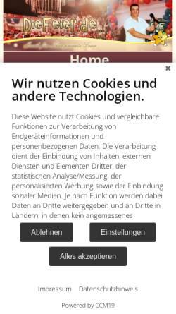 Vorschau der mobilen Webseite www.diefeier.de, Guido Gleichmann - DieFeier.de
