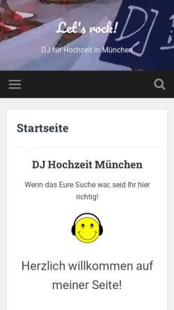 Vorschau der mobilen Webseite dj.spiels-mir.de, Let's rock!