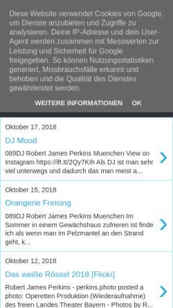 Vorschau der mobilen Webseite rob-perkins-a-djs-life-thru-a-lens.blogspot.de, DJ Rob Perkins München