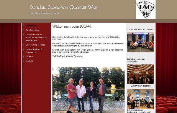 Vorschau von www.danubiamusic.com, Danubia Saxophon Quartett Wien