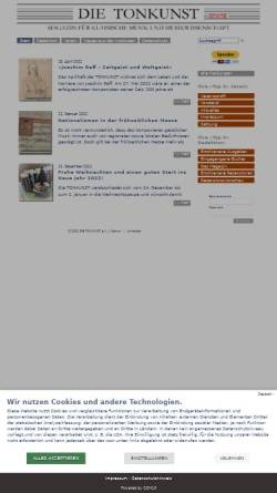 Vorschau der mobilen Webseite www.die-tonkunst.de, Die Tonkunst