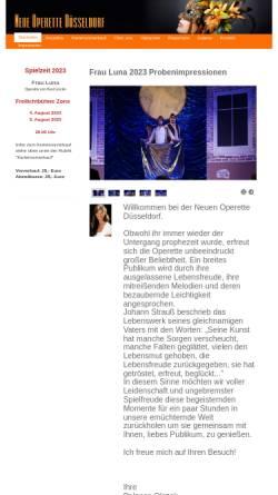 Vorschau der mobilen Webseite neue-operette-duesseldorf.de, Düsseldorfer Operette