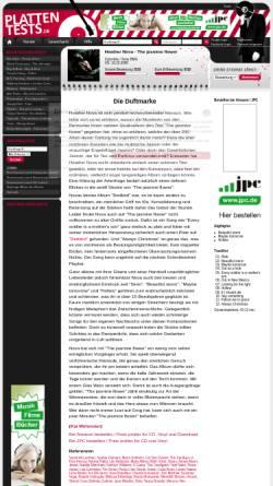 Vorschau der mobilen Webseite www.plattentests.de, The Jasmine Flower