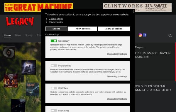 Vorschau von www.legacy.de, Legacy.de