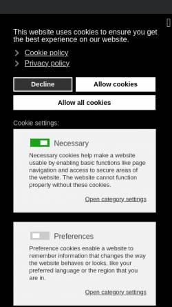 Vorschau der mobilen Webseite www.legacy.de, Legacy.de
