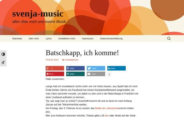 Vorschau von www.svenja-music.com, Svenja