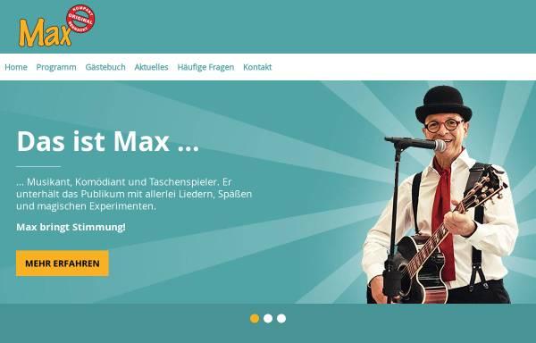 Vorschau von www.musikantmax.de, Max der Straßenmusikant