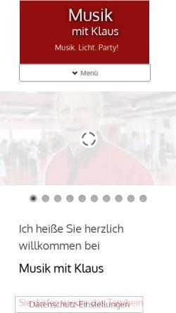 Vorschau der mobilen Webseite www.musik-mit-klaus.de, Musik mit Klaus