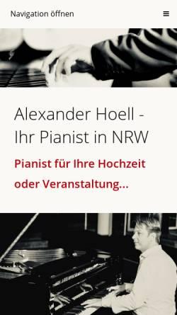Vorschau der mobilen Webseite www.pianist-nrw.de, Hoell, Alexander