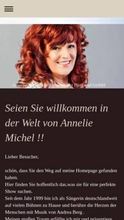 Vorschau der mobilen Webseite annelie-michel-remscheid.de, Michel, Annelie