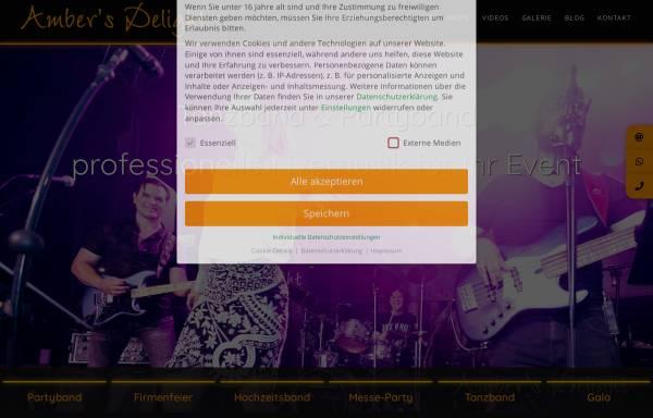 Vorschau von www.tanzband-coverband.de, Amber's Delight