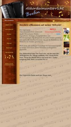 Vorschau der mobilen Webseite www.akkordeon-unterricht-berlin.de, Akkordeonunterricht Berlin, Olga Blumen