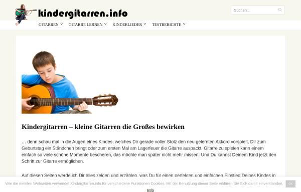 Vorschau von www.kindergitarren.info, Kindergitarren.info