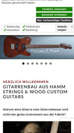 Vorschau der mobilen Webseite stringsandwood.de, Strings And Wood - Gitarrenbau aus Hamm
