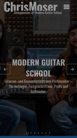 Vorschau der mobilen Webseite www.modern-guitar-school.com, Moser, Christian