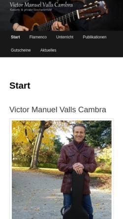 Vorschau der mobilen Webseite www.vmvc.com, de Valencia, Victor Manuel