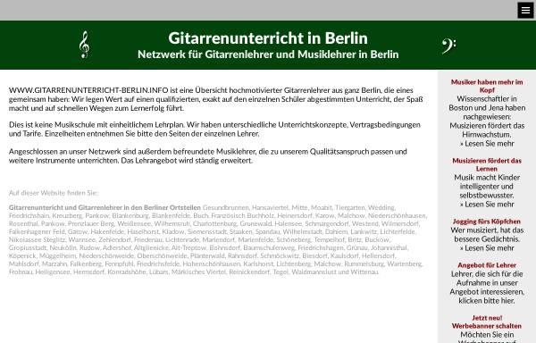 Vorschau von www.gitarrenunterricht-berlin.info, gitarrenunterricht-berlin.info