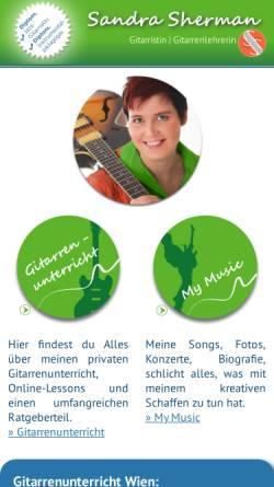 Vorschau der mobilen Webseite www.sandrasherman.com, Sherman, Sandra