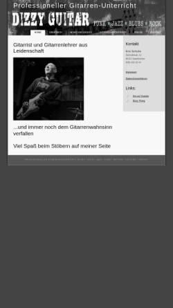 Vorschau der mobilen Webseite www.dizzyguitar.de, Dizzy Guitar