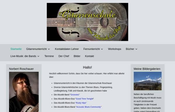 Vorschau von www.gitarrenschule-roschauer.de, Gitarrenschule Roschauer