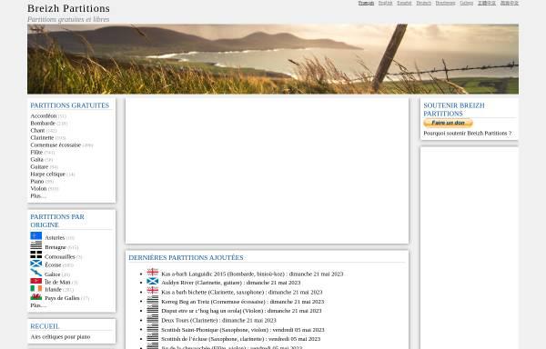 Vorschau von www.partitions.bzh, Breizh Partitions