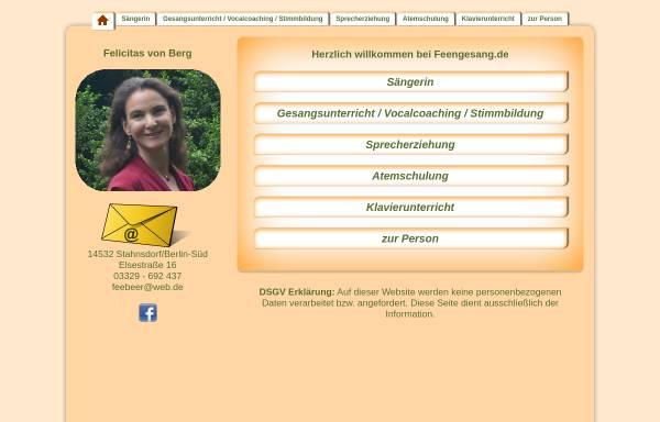Vorschau von www.feengesang.de, Beer-Wagner, Felicitas