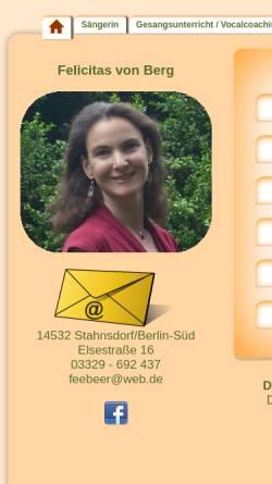 Vorschau der mobilen Webseite www.feengesang.de, Beer-Wagner, Felicitas