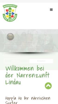 Vorschau der mobilen Webseite narrenzunft-lindau.de, Narrenzunft Lindau / Bodensee e.V.