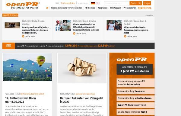 Vorschau von www.openpr.de, OpenPR