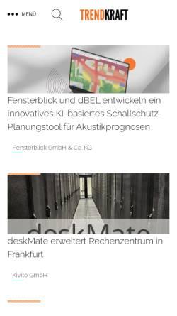 Vorschau der mobilen Webseite www.presseanzeiger.de, Presse Anzeiger