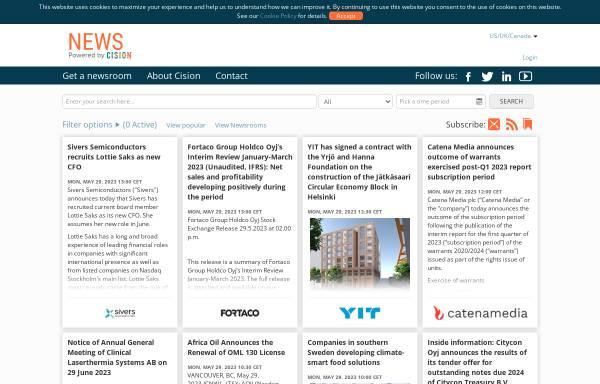 Vorschau von news.cision.com, News Powered by Cision