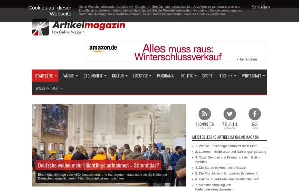 Vorschau von www.artikelmagazin.de, Artikelmagazin.de