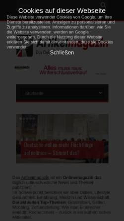 Vorschau der mobilen Webseite www.artikelmagazin.de, Artikelmagazin.de