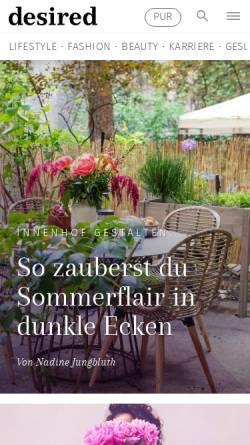 Vorschau der mobilen Webseite erdbeerlounge.de, Erdbeerlounge.de