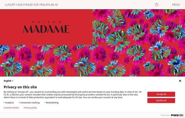 Vorschau von www.madame.de, Madame.de