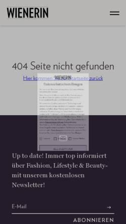 Vorschau der mobilen Webseite wienerin.at, DIVA