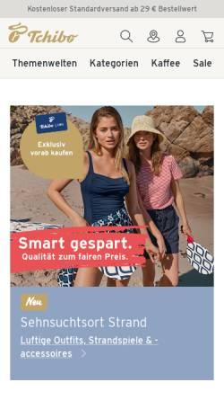 Vorschau der mobilen Webseite www.tchibo.de, Tchibo