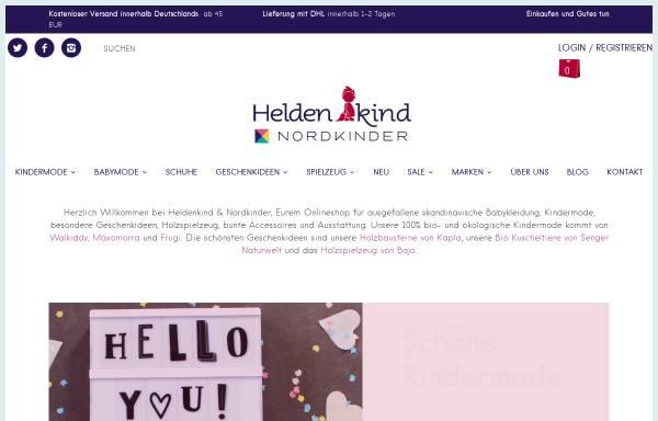 Vorschau von www.heldenkind.de, Heldenkind - Kindermode & Geschenkideen