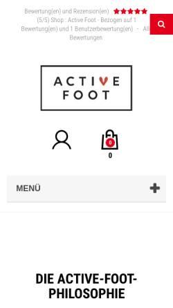 Vorschau der mobilen Webseite active-foot.de, Active-Foot, David Szymczak