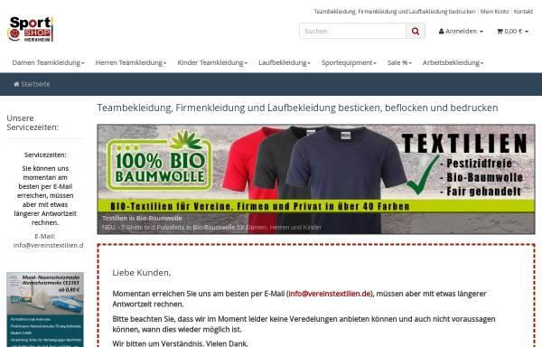 Vorschau von www.vereinstextilien.de, Sportshop Herxheim, Inh. Thomas Hans
