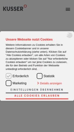 Vorschau der mobilen Webseite de.kusser.com, Grabsteine, KUSSER Granitwerke GmbH