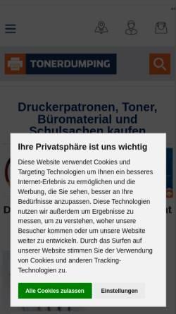 Vorschau der mobilen Webseite www.toner-dumping.de, Toner-dumping.de Orth & Baer GmbH