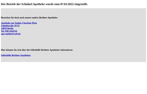 Vorschau von www.schinkel-apotheke.de, Schinkel Apotheke