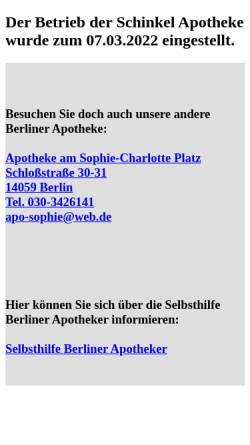 Vorschau der mobilen Webseite www.schinkel-apotheke.de, Schinkel Apotheke