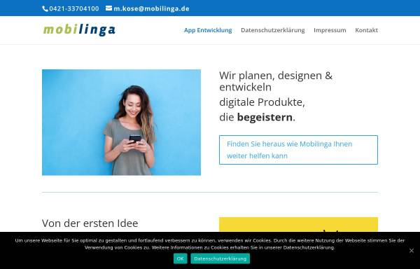 Vorschau von www.mobilinga.com, Mobilinga GmbH