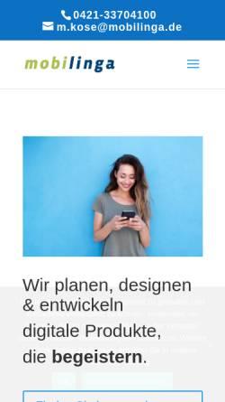 Vorschau der mobilen Webseite www.mobilinga.com, Mobilinga GmbH