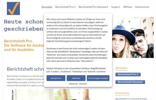 Vorschau von www.berichtsheft.de, Garsidis Webdesign & Programmierung