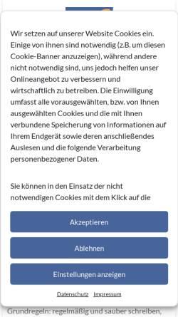 Vorschau der mobilen Webseite www.berichtsheft.de, Garsidis Webdesign & Programmierung